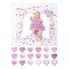 Lulujo - Baby's First Year Blanket & Card Set - With Brave Wings