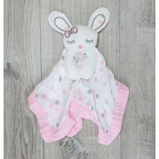 Lulujo - Doudou Lovie lapin rose