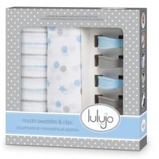 Lulujo - 2 Couvertures en Muslin et Clips