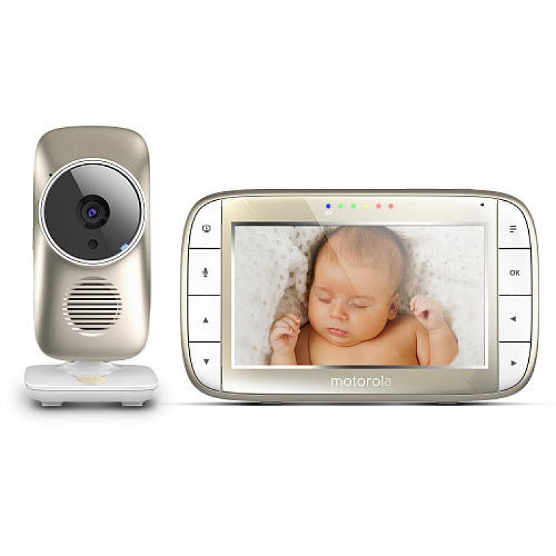 "Motorola - 5"" Video Baby Monitor with Wi-Fi"