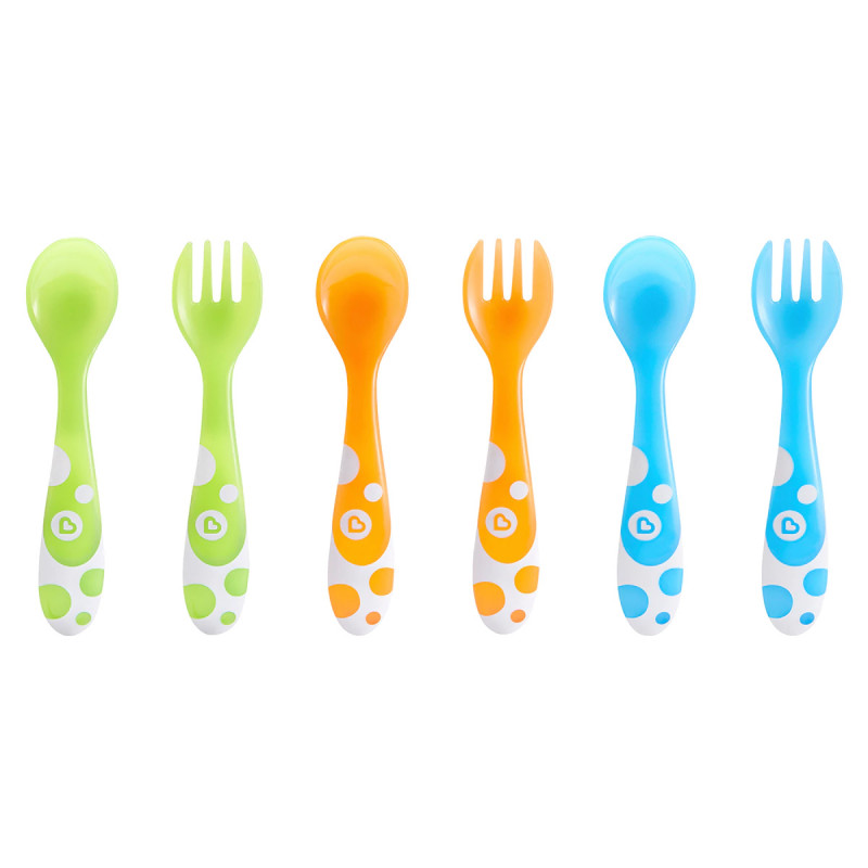 Munchkin - Multi Forks and Spoons - 6 Pack