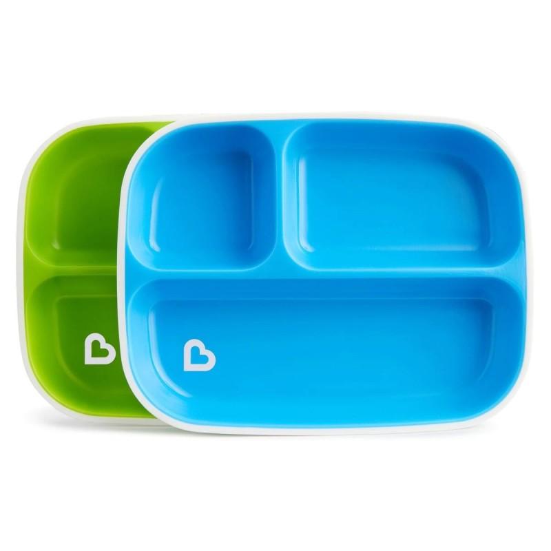 Munchkin - Splash Divided Plates - 2 Pack