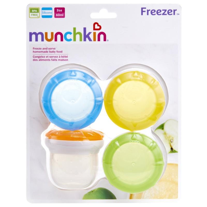 Munchkin - Tasses Congélateur Pour Aliments Frais