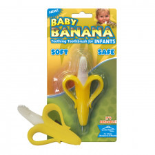 Baby Banana - Jouet de dentition et brosse à dents pour bébé
