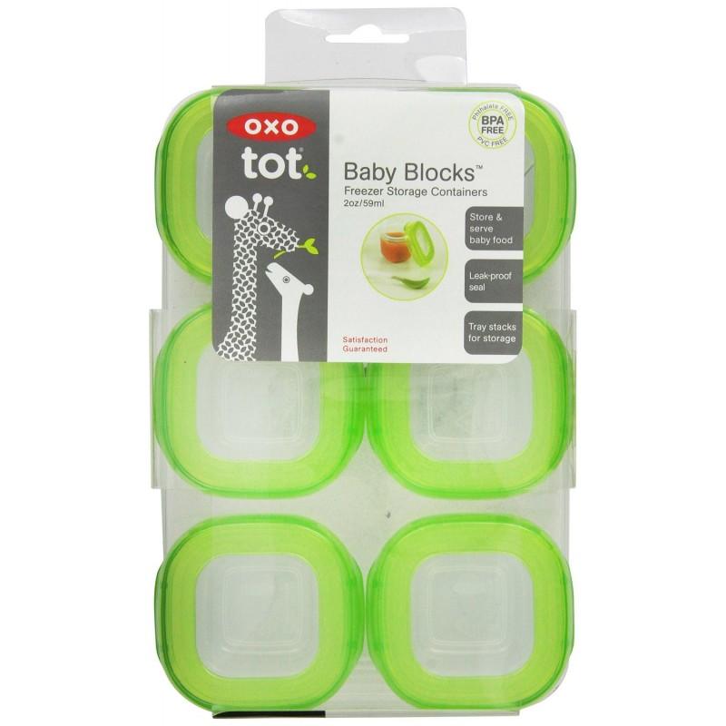 Oxo Tot - Conteneurs de stockage de congélateur Baby Blocks (2 oz)