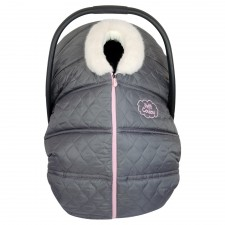Petit Coulou - Winter Car Seat Cover - Grey/Ivory