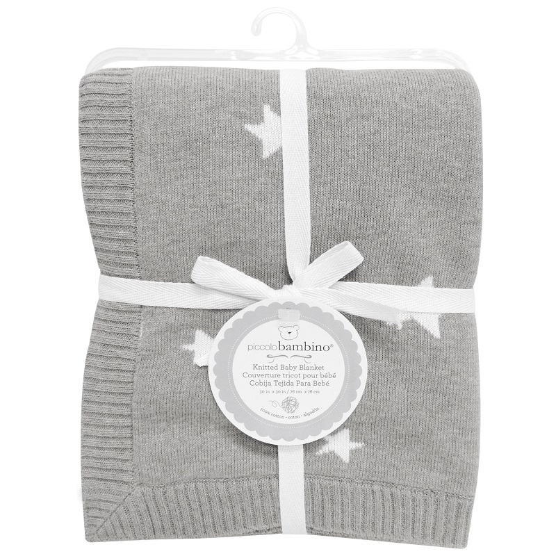 Piccolo Bambino - Knitted Baby Blanket Stars