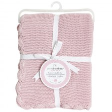 Piccolo Bambino - Knitted Baby Blanket With Scallopped Edges