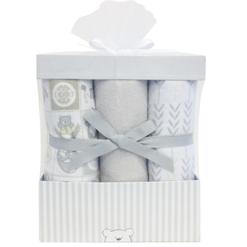 Piccolo Bambino - 6 Flannel Receving Blankets In Box