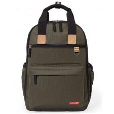 Skip Hop - Sac à couche Duo Backpack - Olive Mini Grid