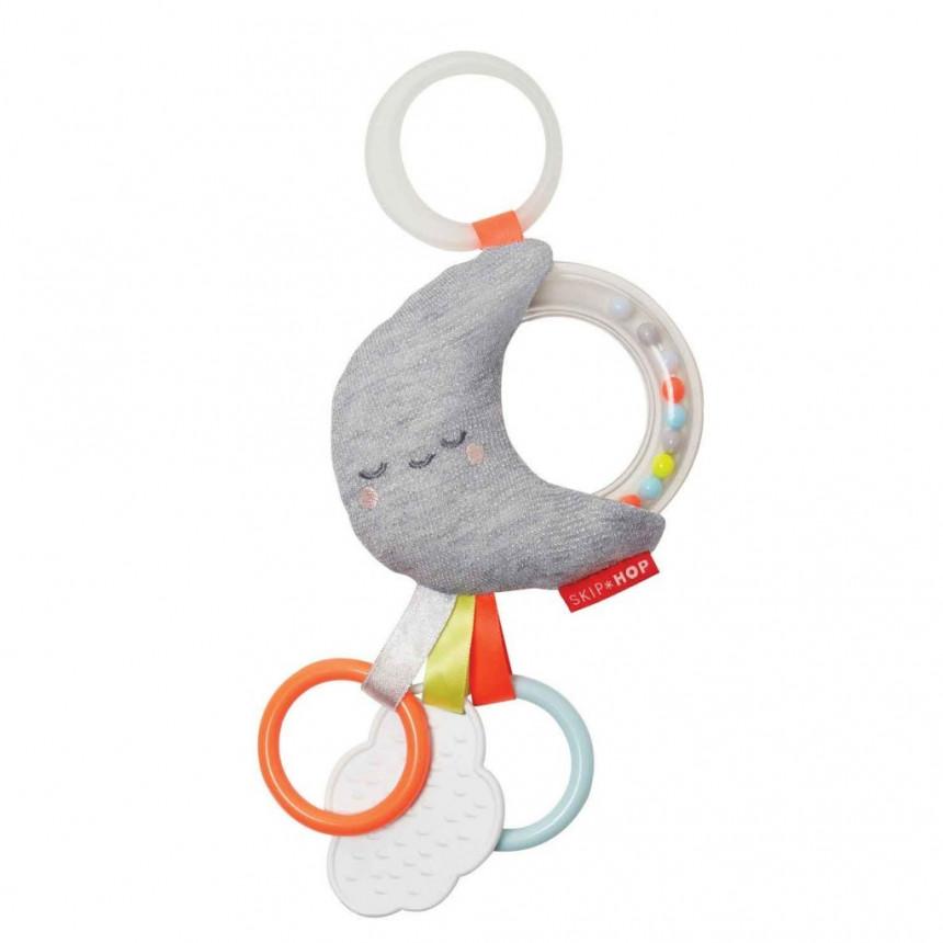 Skip Hop - Silver Lining Jitter Stroller Toy - Moon