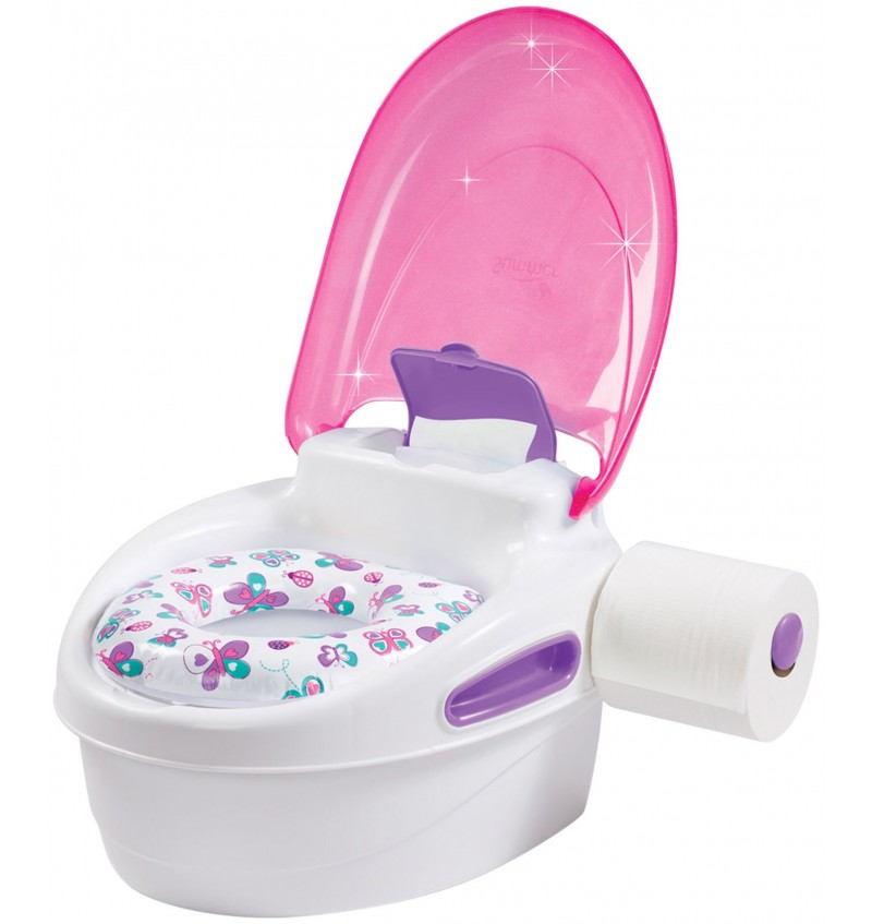 Summer Infant - Step-by-Step Potty Trainer & Step Stool - Rose