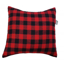 Carrément Bébé - Chalet Style - Decorative Cushion - Square Red & Black