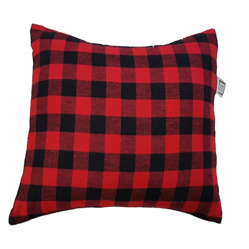 Carrément Bébé - Chalet Style - Decorative Cushion - Square Red & Black