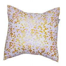 Carrément Bébé - Charlotte - Decorative Cushion - Square Purple & Gold
