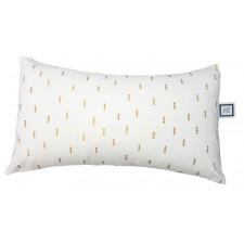 Carrément Bébé - Charlotte - Coussin décoratif - Rectangle blanc & doré