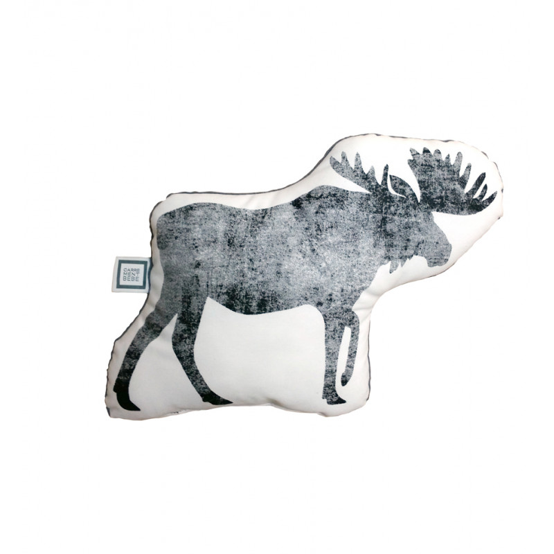 Carrément Bébé - Boreal Forest - Decorative Cushion - Moose