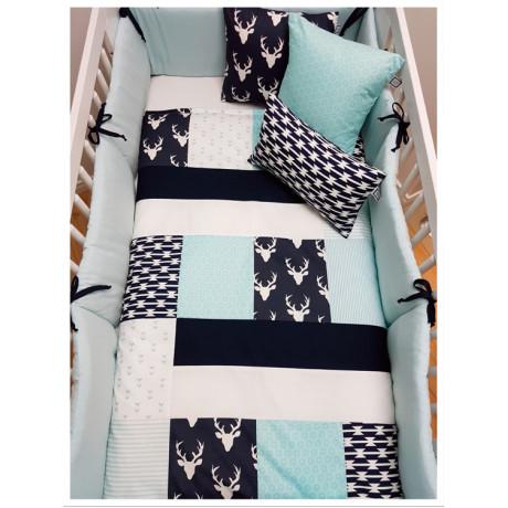 Carrément Bébé - Leo - Decorative Cushion - Square Turquoise