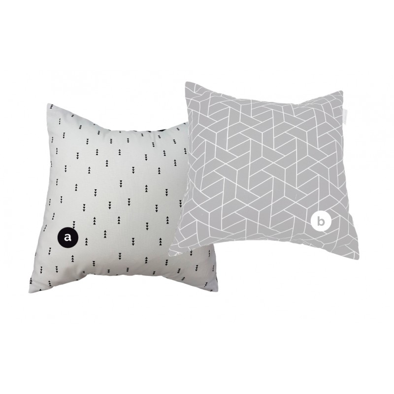 La Libellule - Eden - Decorative Cushion Square - Triangles