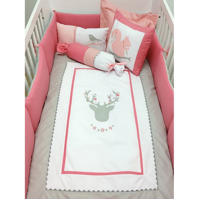 La Libellule - Deer Girl - 5 Pieces Bedding Set