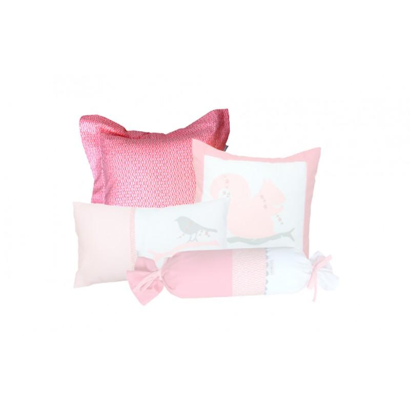 La Libellule - Deer Girl - Decorative Cushion Square - Pink