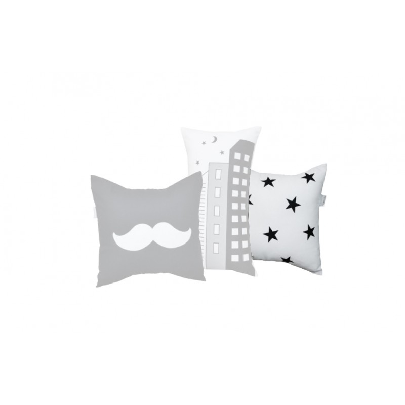 La Libellule - Little Man - Decorative Cushion Square - Stars