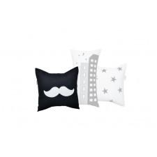 La Libellule - Little Man - Decorative Cushion Square - Mustache