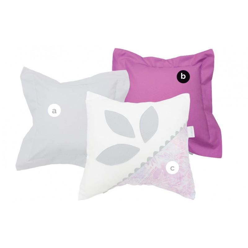 La Libellule - Victoria - Coussin décorative carré - Violet