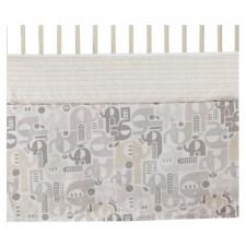 Living Textiles Company - Jupe de lit - Éléphant Naturi