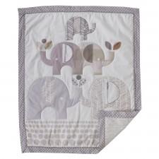 The Living Textiles Company - Couette bébé éléphants