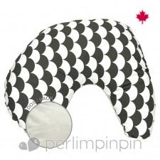 Perlimpinpin - Coussin d'allaitement imprimé - Feston Charcoal