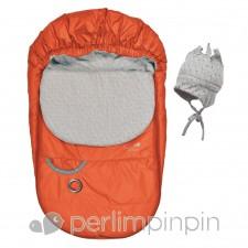Perlimpinpin - Couvre-Siège Mi-Saison - Orange vif