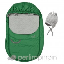 Perlimpinpin - Couvre-Siège Mi-Saison - Vert printemps