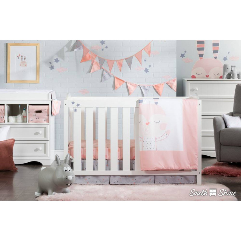 South Shore - Collection DreamIt - Ensemble de literie pour bébé Doudou Le Lapin