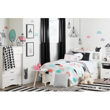 South Shore - Collection DreamIt - Ensemble de literie pour enfants Jardin de nuit