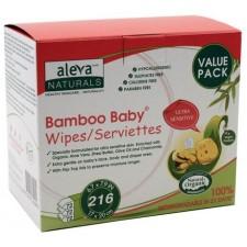 Aleva Naturals - Lingettes Sensibles en bamboo 216pc