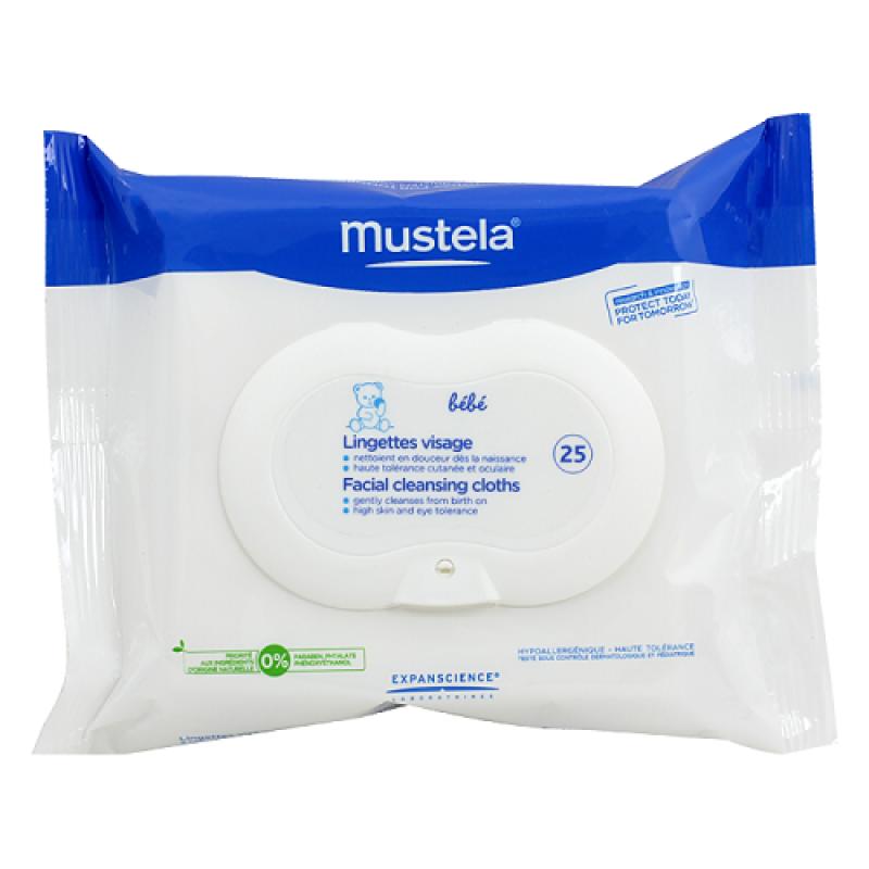 Mustela - Lingettes Visage 25pc