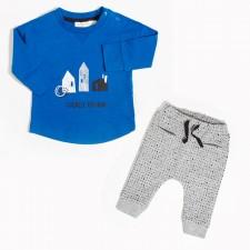 Miles Baby - Ensemble de chandail et pantalon jogging - Bleu