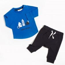 Miles Baby - Ensemble de chandail et pantalon jogging - Bleu et noir