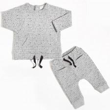 Miles Baby - Ensemble de chandail et pantalon jogging - Gris