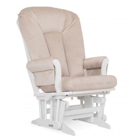 Dutailier - Chaise Berçante en bois Serie 81 (Blanc)