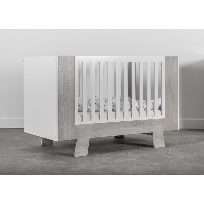 Dutailier - Pomelo Crib - Rustic Grey