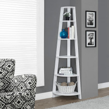 Monarch - Bookcase White Corner - 72""