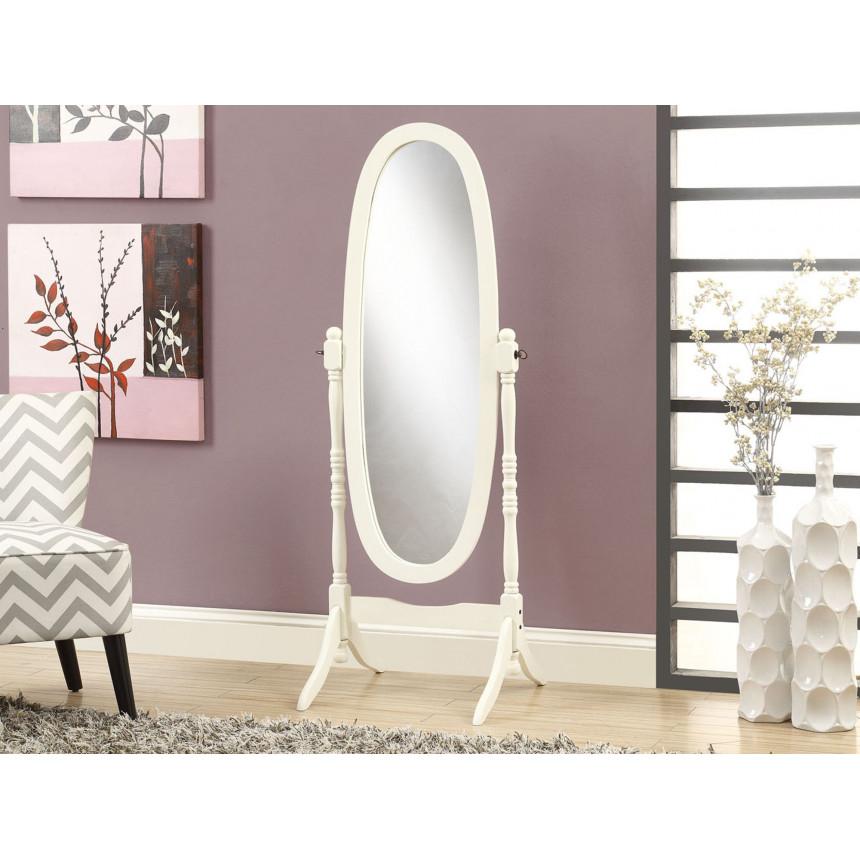 """Monarch - Miroir blanc antique 59 """"H"""