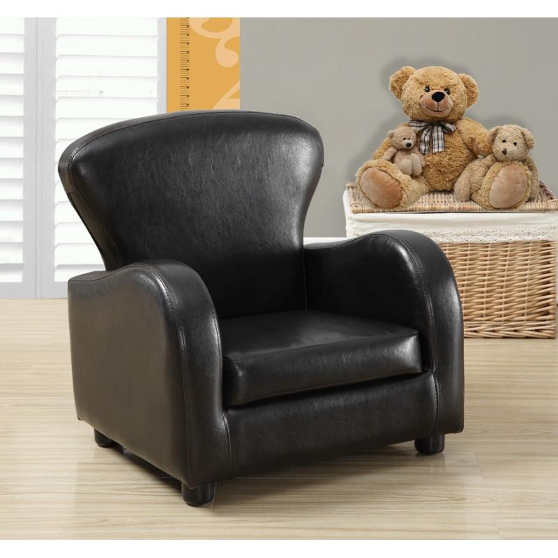Monarch - Chaise juvénile en cuir gris charbon