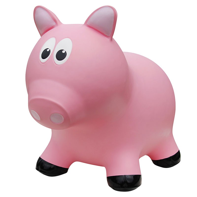 Farm Hoppers - Inflatable Bouncer - Pink Pig