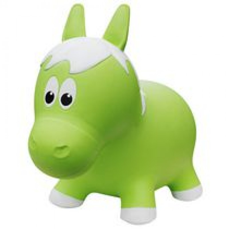 Farm Hoppers - Inflatable Bouncer - Green Horse