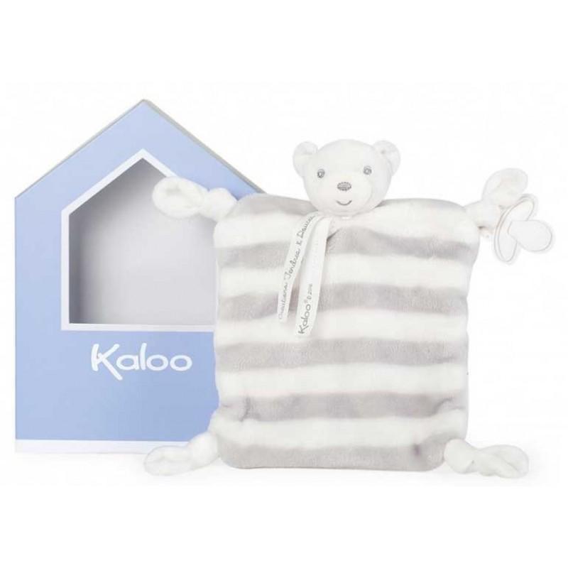 Kaloo - Bébé Pastel - Ourson Gris Doudou