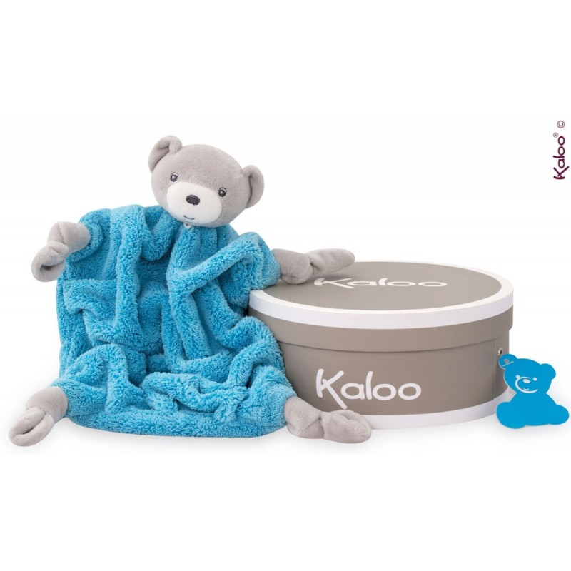 Kaloo - Colors - Doudou Ourson Neon Bleu